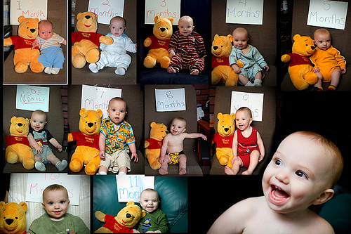 The Pooh Collage and Party Invite