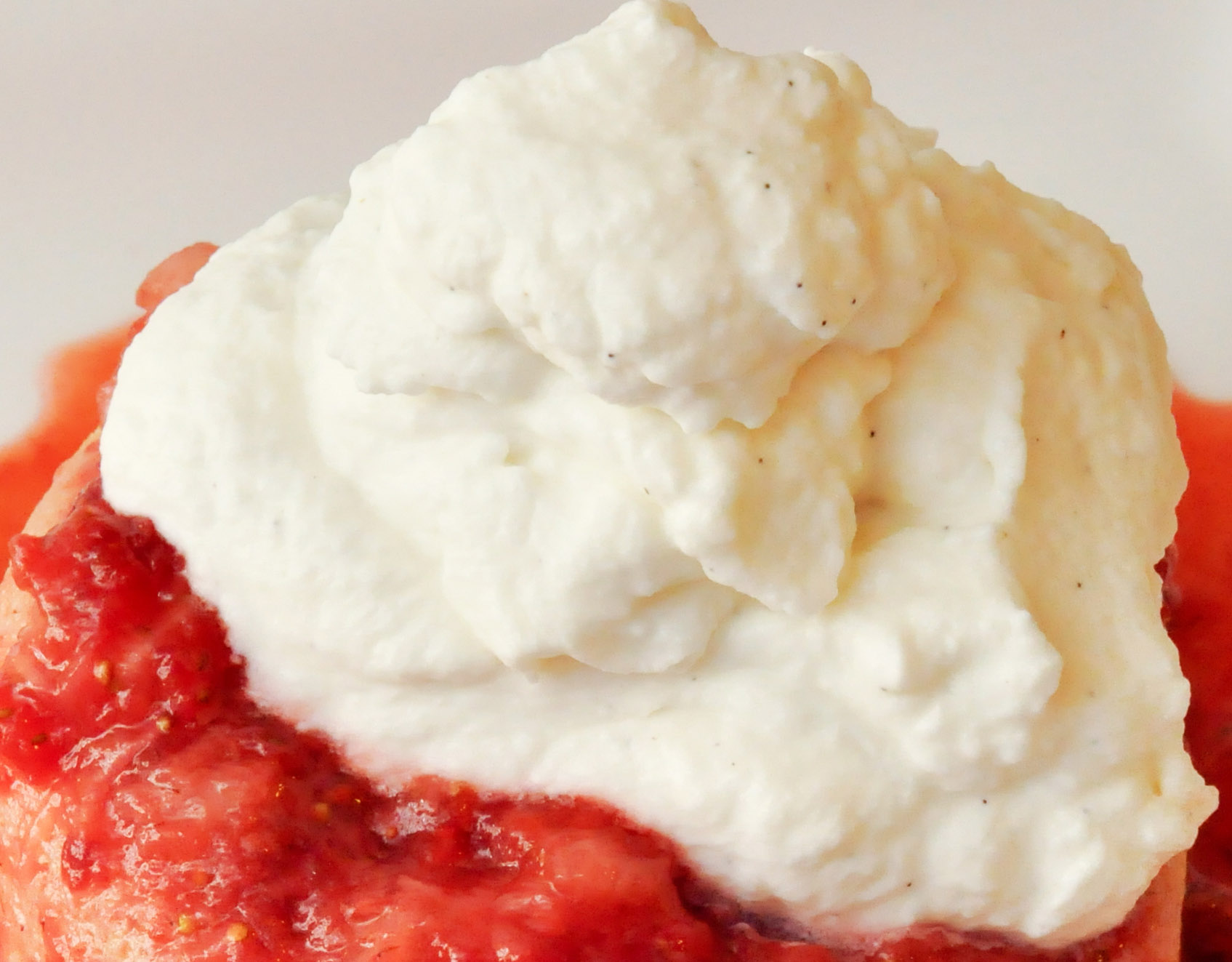 Homemade Very Vanilla Whipped Cream & Strawberry Shortcake