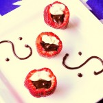 Vanilla Cream Cheese Mousse and Chocolate Ganache Filled Strawberries