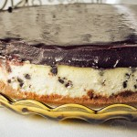 Chocolate Chip Cheesecake with Chocolate Ganache Topping
