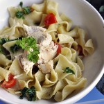 Tuscan Herb Chicken and Noodles with Organic Cherry Tomatoes and Parsley