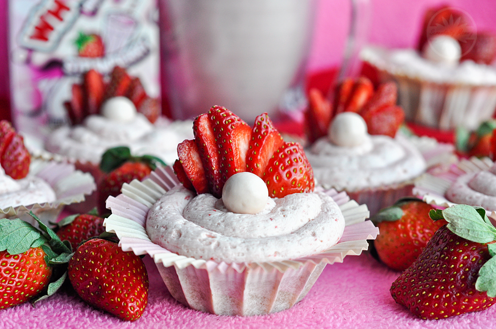 Strawberry Milkshake Whoppers Cupcakes
