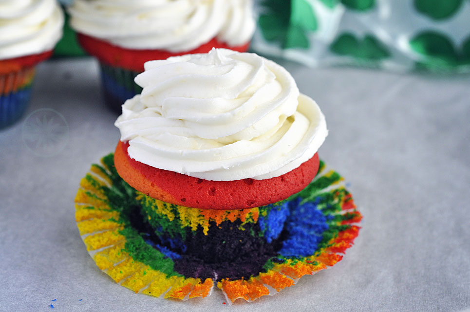 Rainbow Cupcakes for St. Patrick's Day