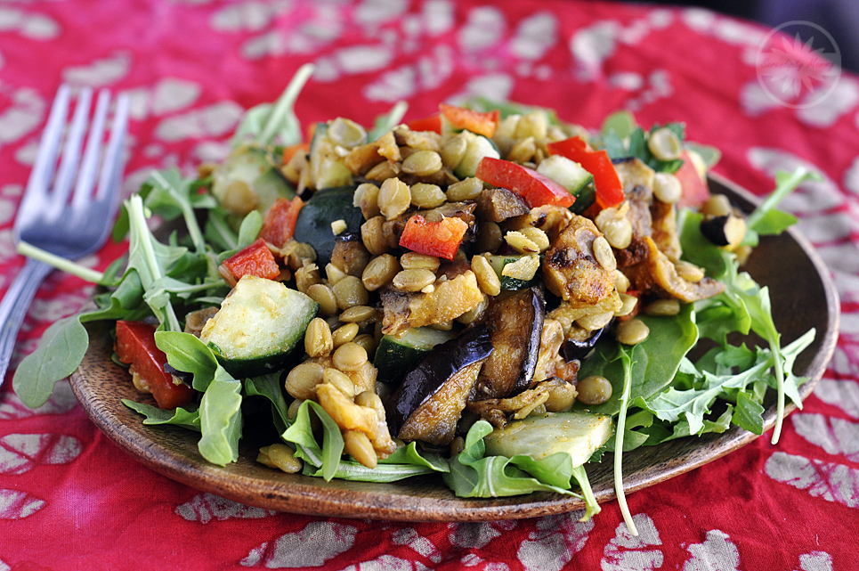Curried Lentil and Eggplant Salad
