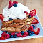 Pain Perdu with Fresh Berries and Whipped Cream