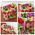 Quick & Easy Craft : Repurpose Containers with Fabric