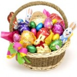 I'm Over Candy in the Easter Baskets.