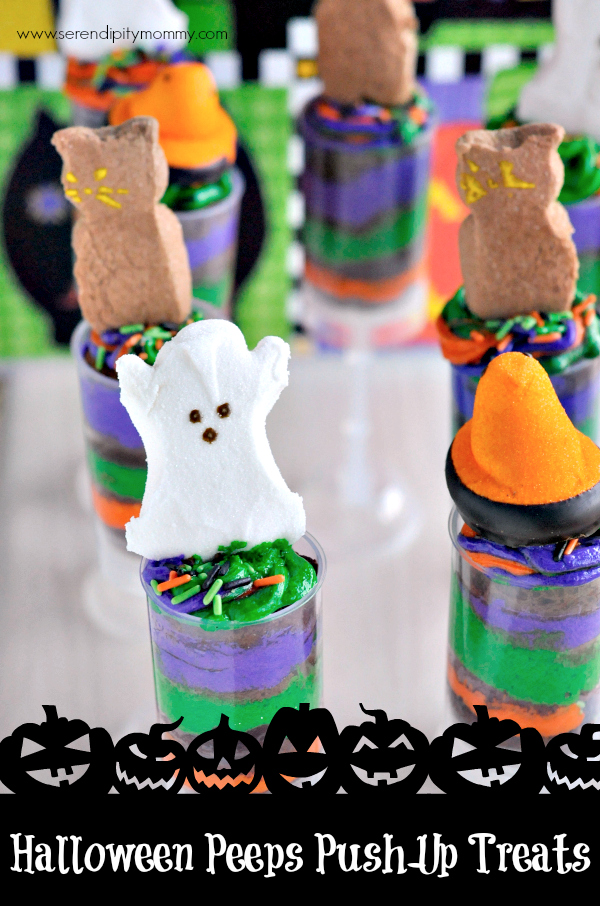Halloween Peeps Push-up Treats by Serendipity Mommy