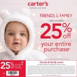 Save an Extra 25% at the Carter's Friends and Family Savings Event!