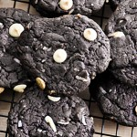 Dark Chocolate Coconut and White Chocolate Chip Cookies