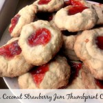 Butter Coconut Strawberry Jam Thumbprint Cookies