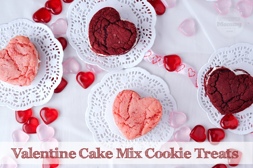 Valentine Cake Mix Cookie Treats