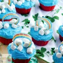 Easy Rainbow Cupcakes for St. Patrick's Day