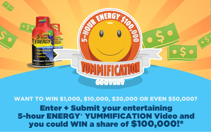 Making 5-hour ENERGY Yummified $50k Contest And A Giveaway!