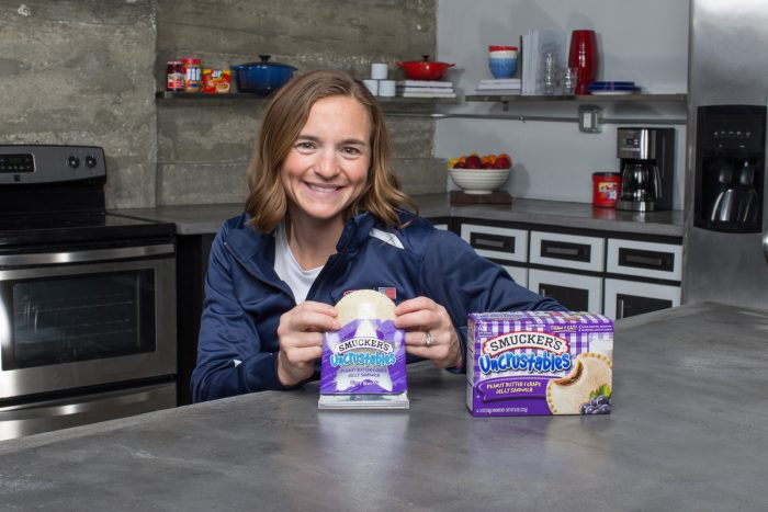 25 January 2016: Paralympic triathlete Melissa Stockwell poses for a shoot with Smuckers at Apex Studio in downtown Los Angeles, CA.
