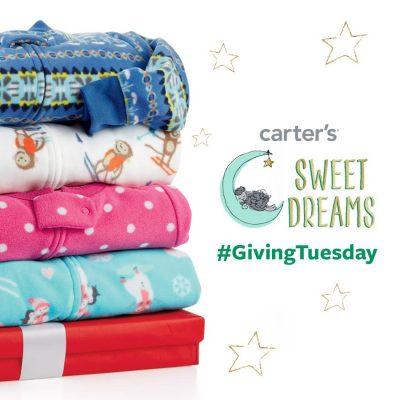 Carter's to Give Away Pajamas Tomorrow on #GivingTuesday