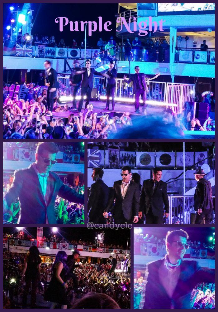 purple night collage nkotb cruise 2016