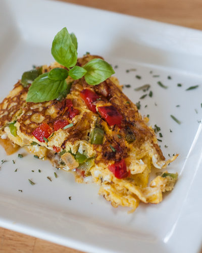 Vegetarian Pepper Omelette Recipe and A Chance To WIN!