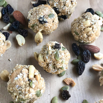 Gluten Free Vegan Protein Bites with Power Up All Natural Trail Mix Review & Giveaway